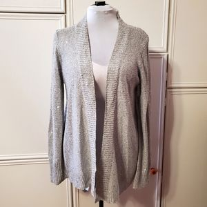 Soft Gray Sparkle Cardigan Sweater